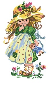 Схема Девочка с куклой