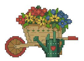 Схема Тачка с цветами / Gardener's Delight