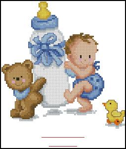 Схема Метрика малыш с бутылочкой