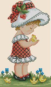 Схема Девочка с утятами
