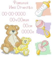 Схема Метрика для девочки