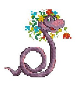 Схема Фиолетовая змейка