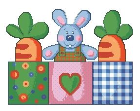 Схема Кролик и морковка