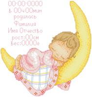 Схема Метрика. Малыш на луне (девочка)