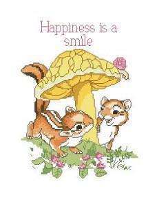 Схема Нежные мысли. Счастливая улыбка / Happiness is a smile