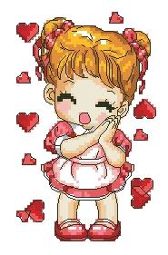 Схема Влюбленная девочка