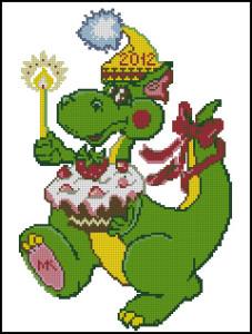 Схема Дракоша новогодний