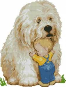Схема Мальчик и собака