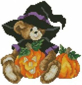 Схема Мишка на Хэллоуин