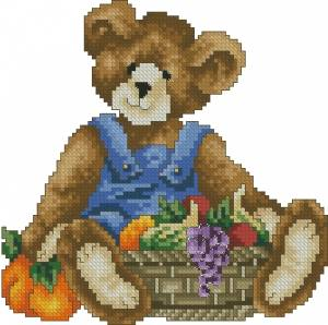 Схема Мишка с фруктами