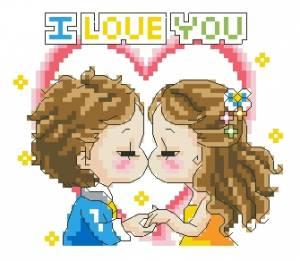 Схема Я тебя люблю / I love you