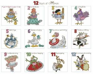 Схема 12 дней Рождества. Сэмплер