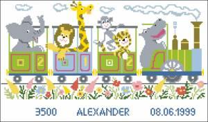 Схема Метрика Паровозик с животными