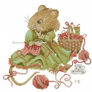 Схема Мышка рукодельница