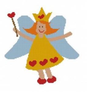 Схема Маленькая фея (сердечки)