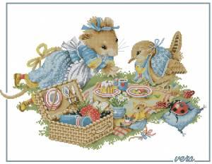 Схема Мышка на пикнике
