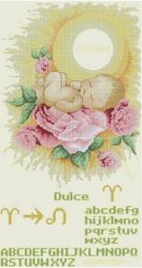 Схема Малыш (в розах) Стихия ОГОНЬ