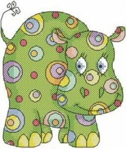 Схема Цветной бегемотик