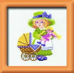 Схема Девочка с коляской