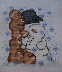 Схема Снеговик и мишки