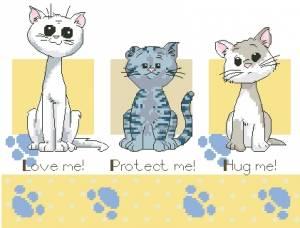 Друзья котята. схема.  Tags.