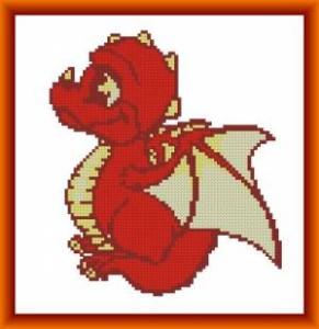Схема Маленький красный дракончик
