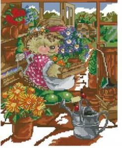 Схема Ежиха цветочница