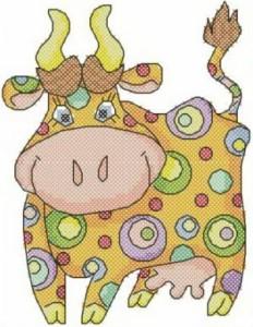 Схема Цветная коровка