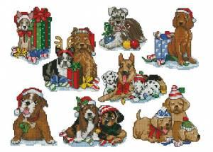 Схема Новогодние собачки