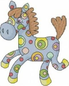 Схема Цветная лошадка