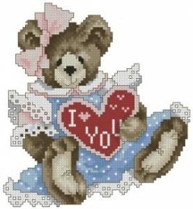 Схема Мишка с сердечком