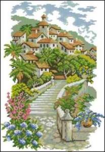 Схема Домики в цветах