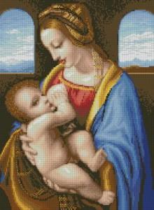 Схема Мадонна Литта (Леонардо Да Винчи)