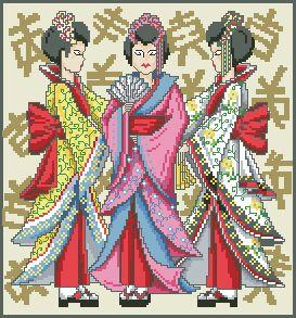 Схема Три девушки