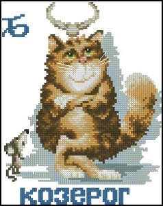 Схема Козерог, кошачий гороскоп