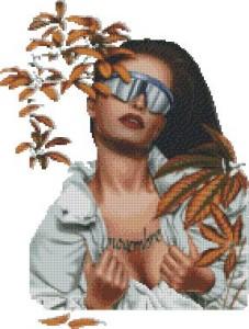 Схема Девушка осень (Дэбра)