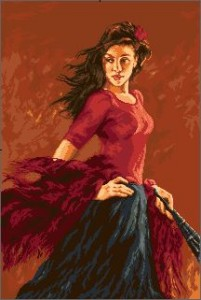 Схема Танцовщица фламенко / Dansatoare de flamenco