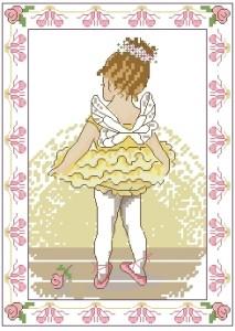 Схема Маленькая балерина в желтом