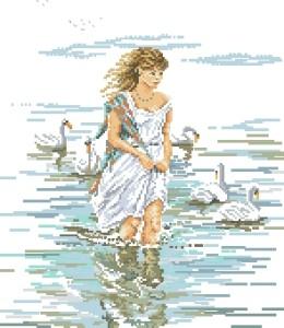 Схема Девушка и лебеди