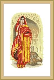 Схема Индийская красавица