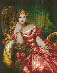 Схема Дама в красном