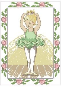 Схема Маленькая балерина в зеленом