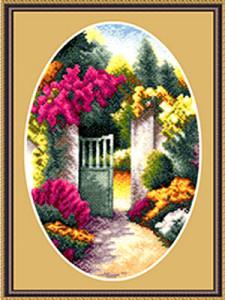 Схема Садовая калитка