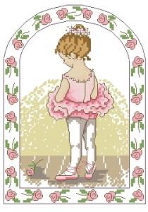 Схема Маленькая балерина в розовом