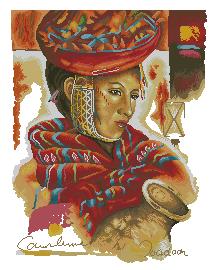 Схема Женщина Перу