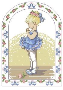 Схема Маленькая балерина в голубом