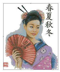 Схема Красивая японка