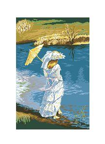 Схема Девушка у озера
