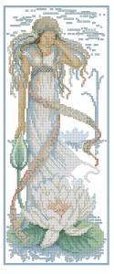 Схема Девушка с лотосом
