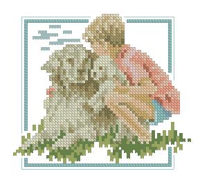 Схема Мальчик с ретривером